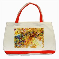 Canvas Acrylic Design Color Classic Tote Bag (red)