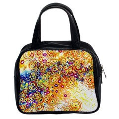 Canvas Acrylic Design Color Classic Handbags (2 Sides)