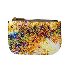 Canvas Acrylic Design Color Mini Coin Purses