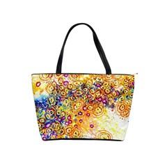 Canvas Acrylic Design Color Shoulder Handbags