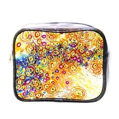 Canvas Acrylic Design Color Mini Toiletries Bags