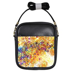 Canvas Acrylic Design Color Girls Sling Bags