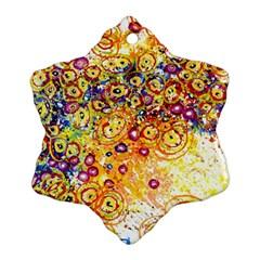 Canvas Acrylic Design Color Ornament (snowflake)