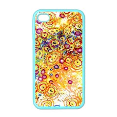 Canvas Acrylic Design Color Apple Iphone 4 Case (color)
