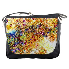 Canvas Acrylic Design Color Messenger Bags