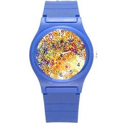 Canvas Acrylic Design Color Round Plastic Sport Watch (s)
