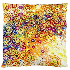 Canvas Acrylic Design Color Large Cushion Case (two Sides)