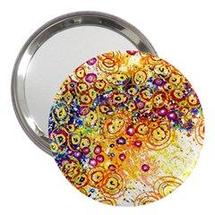 Canvas Acrylic Design Color 3  Handbag Mirrors