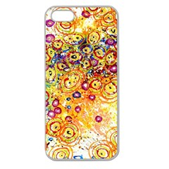 Canvas Acrylic Design Color Apple Seamless Iphone 5 Case (clear)