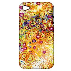 Canvas Acrylic Design Color Apple Iphone 4/4s Hardshell Case (pc+silicone)