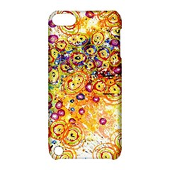 Canvas Acrylic Design Color Apple Ipod Touch 5 Hardshell Case With Stand