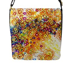 Canvas Acrylic Design Color Flap Messenger Bag (l)