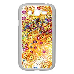 Canvas Acrylic Design Color Samsung Galaxy Grand Duos I9082 Case (white)