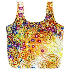 Canvas Acrylic Design Color Full Print Recycle Bags (l)