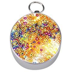 Canvas Acrylic Design Color Silver Compasses