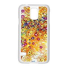 Canvas Acrylic Design Color Samsung Galaxy S5 Case (white)