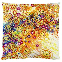 Canvas Acrylic Design Color Large Flano Cushion Case (one Side)