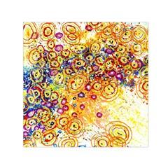 Canvas Acrylic Design Color Small Satin Scarf (square)