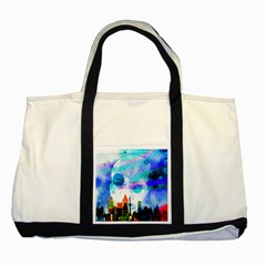 Dirty Dirt Spot Man Doll View Two Tone Tote Bag