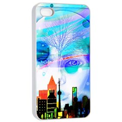Dirty Dirt Spot Man Doll View Apple Iphone 4/4s Seamless Case (white)