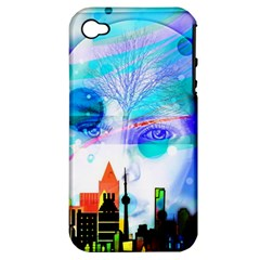 Dirty Dirt Spot Man Doll View Apple Iphone 4/4s Hardshell Case (pc+silicone)