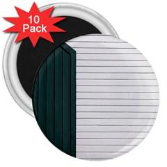 Construction Design Door Exterior 3  Magnets (10 Pack)