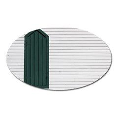 Construction Design Door Exterior Oval Magnet