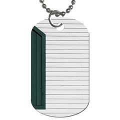 Construction Design Door Exterior Dog Tag (two Sides)