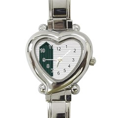 Construction Design Door Exterior Heart Italian Charm Watch