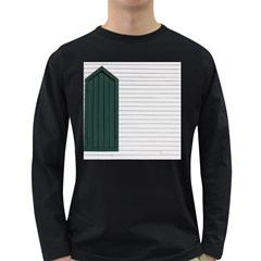 Construction Design Door Exterior Long Sleeve Dark T Shirts