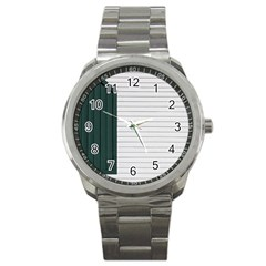 Construction Design Door Exterior Sport Metal Watch