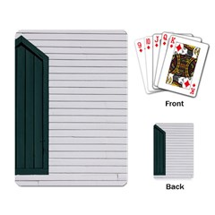 Construction Design Door Exterior Playing Card
