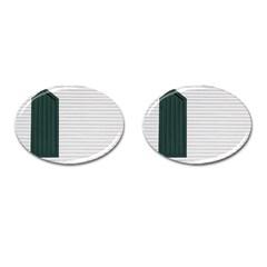 Construction Design Door Exterior Cufflinks (oval)