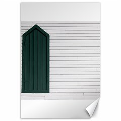 Construction Design Door Exterior Canvas 12  X 18