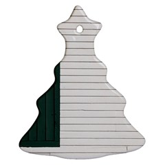 Construction Design Door Exterior Christmas Tree Ornament (two Sides)