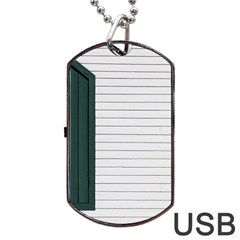 Construction Design Door Exterior Dog Tag USB Flash (One Side)