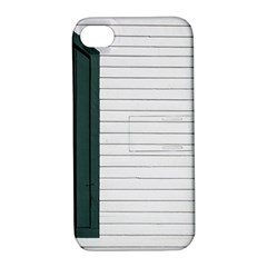 Construction Design Door Exterior Apple Iphone 4/4s Hardshell Case With Stand