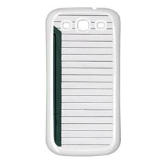 Construction Design Door Exterior Samsung Galaxy S3 Back Case (white)
