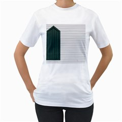 Construction Design Door Exterior Women s T Shirt (white)