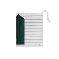 Construction Design Door Exterior Drawstring Pouches (small)