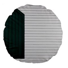 Construction Design Door Exterior Large 18  Premium Flano Round Cushions