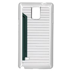 Construction Design Door Exterior Samsung Galaxy Note 4 Case (white)
