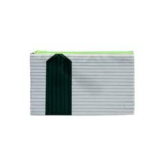 Construction Design Door Exterior Cosmetic Bag (xs)