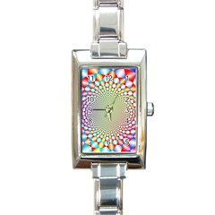 Color Abstract Background Textures Rectangle Italian Charm Watch