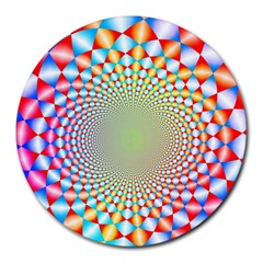 Color Abstract Background Textures Round Mousepads