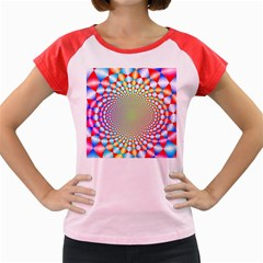 Color Abstract Background Textures Women s Cap Sleeve T Shirt