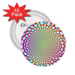 Color Abstract Background Textures 2 25  Buttons (10 Pack)