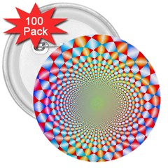 Color Abstract Background Textures 3  Buttons (100 Pack)