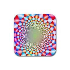 Color Abstract Background Textures Rubber Square Coaster (4 Pack)