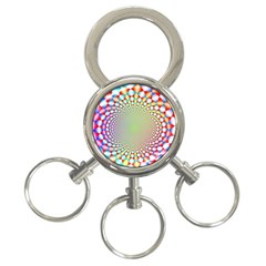 Color Abstract Background Textures 3-Ring Key Chains